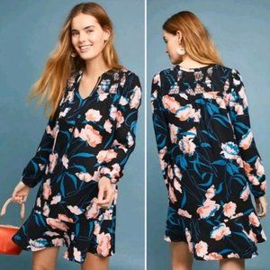 Maeve ragonda floral tunic dress long sleeve